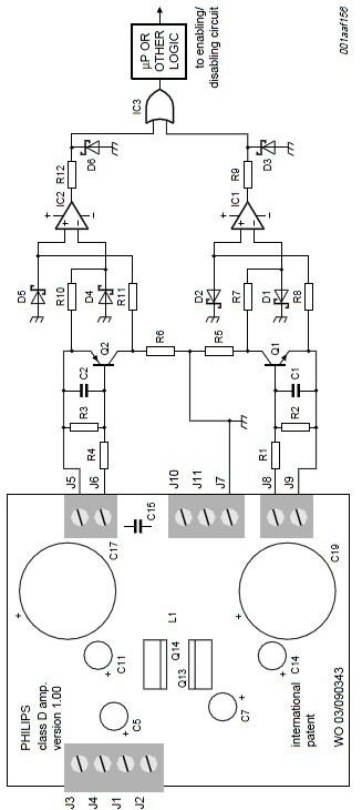 schema protectie Amplificator audio 200 watts cu tranzistori MOSFET